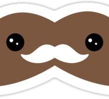 Cute Chocolate Mustache Sticker