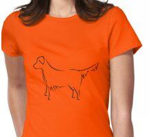 Golden Retriever - black Womens Fitted T-Shirt