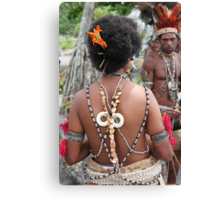 Papuan Woman Traditional Dress Canvas Print