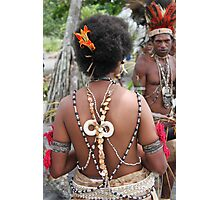 Papuan Woman Traditional Dress Photographic Print