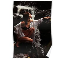 Anna at Eureka Waterfalls, Mauritius Poster
