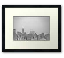 New York City - Looking Sketchy Framed Print