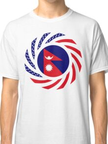 Nepalese American Multinational Patriot Flag Series Classic T-Shirt