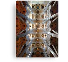 Looking up - Sagrada Familia Canvas Print