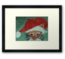 Gabbie is ready for Christmas, waterolor Framed Print
