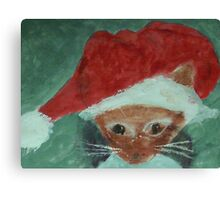 Gabbie is ready for Christmas, waterolor Canvas Print