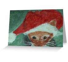 Gabbie is ready for Christmas, waterolor Greeting Card