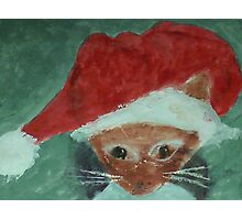 Gabbie is ready for Christmas, waterolor Photographic Print