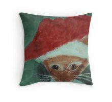 Gabbie is ready for Christmas, waterolor Throw Pillow
