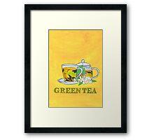 Green tea Framed Print