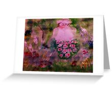 In her garden #2, watercolor Greeting Card