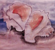 Conch shells #2, watercolor by Anna  Lewis