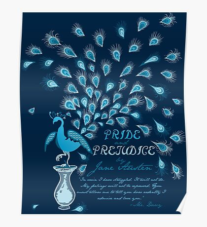 Paisley Peacock Pride and Prejudice: Classic Poster