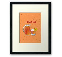 Iced Tea Framed Print
