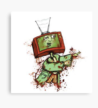 Television Zombie Canvas Print