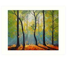 Forest Backlight Art Print