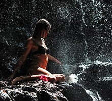 Knowledge. Anna at Eureka Waterfalls. Mauritius by JennyRainbow
