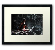 Knowledge. Anna at Eureka Waterfalls. Mauritius Framed Print