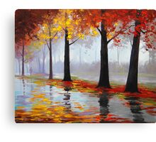 Wet Fall Day Canvas Print