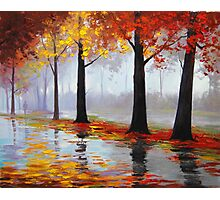 Wet Fall Day Photographic Print
