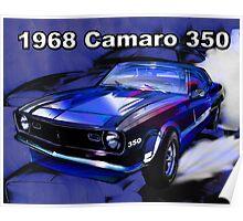 1968 Camaro Blue Poster