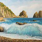Faraglioni on Island Capri by kirilart