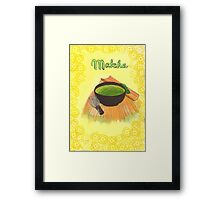 Matcha tea Framed Print