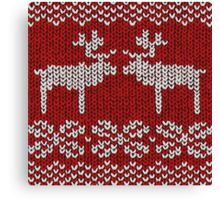 Reindeer Christmas Jumper Canvas Print