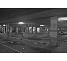 Loneliness of closed shopping centre Photographic Print