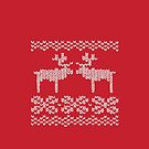 Reindeer Christmas Jumper by EF Fandom Design