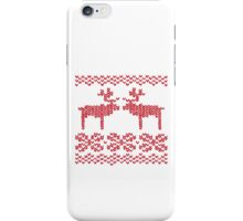 Christmas Jumper Red on White iPhone Case/Skin