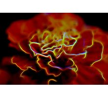 Abstract flower glow Photographic Print