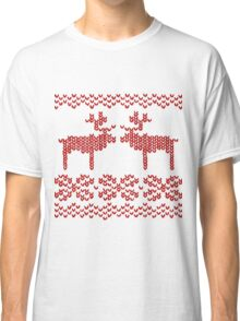Christmas Jumper Red on White Classic T-Shirt