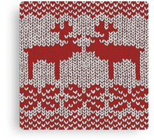 Christmas Jumper Red on White Canvas Print