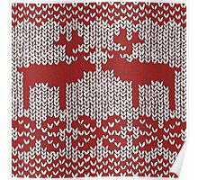 Christmas Jumper Red on White Poster