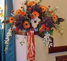 Colour Me Orange! Floral Display in South Shields Church by MidnightMelody