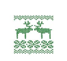 Christmas Jumper Green on White by EF Fandom Design