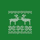 green christmas jumper by EF Fandom Design
