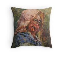 Zombie in Repose Throw Pillow