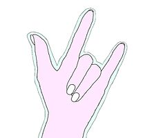 Pastel Rock n Roll Hand by emmarly