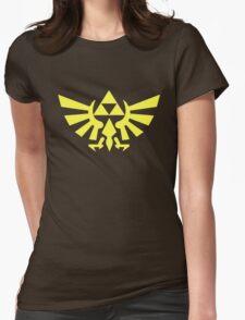 Zelda - Triforce (Yellow) Womens Fitted T-Shirt