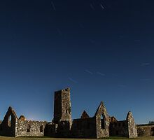 Star trails at  Kilkrea Friary  by Kai Bergmann