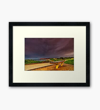 """A Seat In A Storm"" Framed Print"