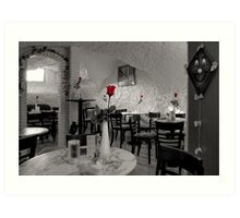 Old Town Cafe Art Print