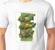 A Painting of Three Ferocious Looking Fishes Unisex T-Shirt