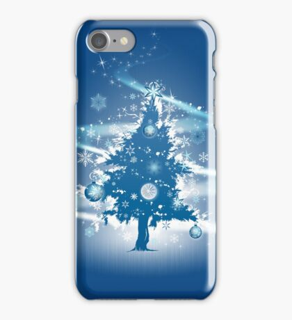 Festive Christmas Case - Blue Decorative Christmas Tree iPhone Case/Skin