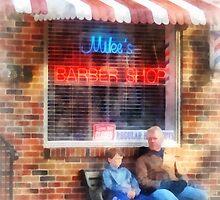Neighborhood Barber Shop by Susan Savad