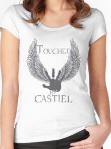 Touched By Castiel (#2) Women's Fitted Scoop T-Shirt