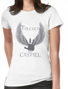 Touched By Castiel (#2) Womens Fitted T-Shirt