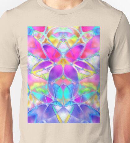 Floral Fractal Art Unisex T-Shirt